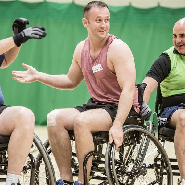Battle Back Hero in Wheelchair